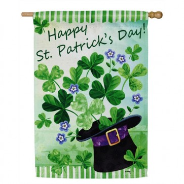 Happy St. Patrick's Day House Flag