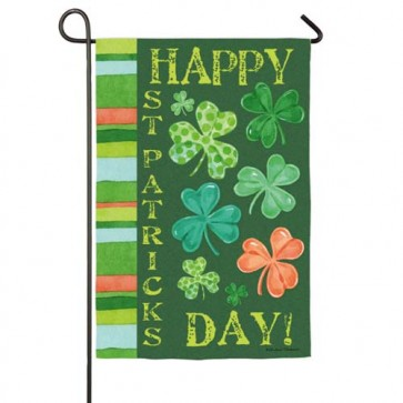 Happy St. Pat's Shamrock Garden Flag