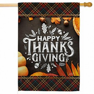 Happy Thanks Giving House Flag