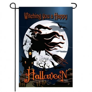 Happy Witching Halloween Garden Flag