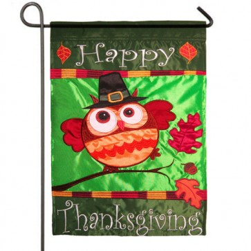 Happy Thanksgiving Owl Garden Flag
