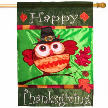 Happy Thanksgiving Owl House Flag