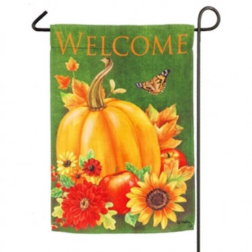 Harvest And Sunflower Watering Can Fall Garden Flag Two Different Sides
