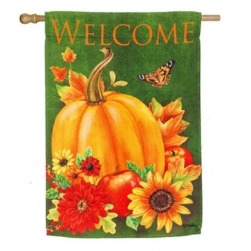 Harvest And Sunflower Watering Can Fall House Flag
