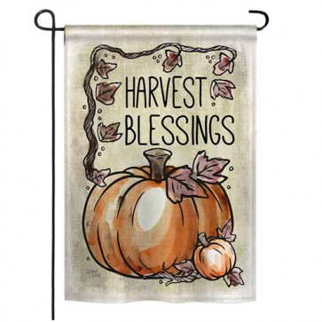 Harvest Blessings Fall Garden Flag