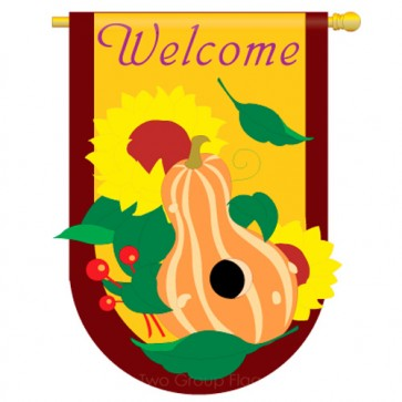 Harvest Fall and Thanksgiving House Flag