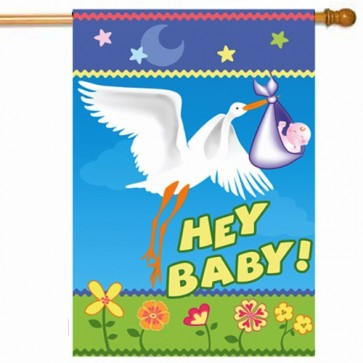 Here Comes My Baby House Flag