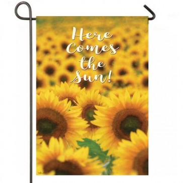 Here Comes the Sun Garden Flag