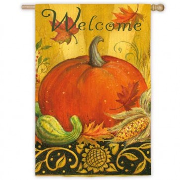 Heritage Pumpkin House Flag