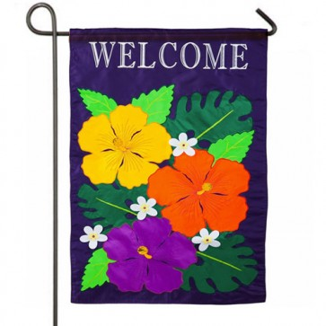 Hibiscus Spring and Summer Garden Flag