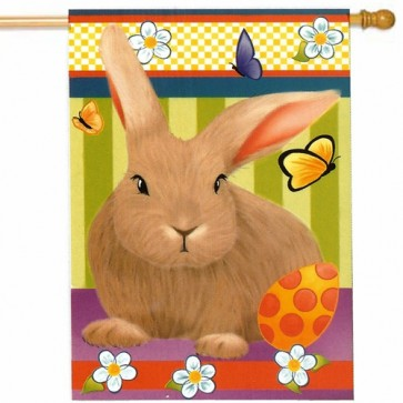 Bunny and Easter Egg House Flag