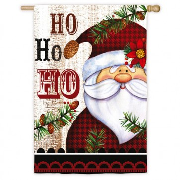 Ho Ho Ho La La La Christmas House Flag (Different design on each side)