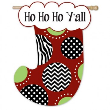 Ho Ho Ho Stocking    House Flag