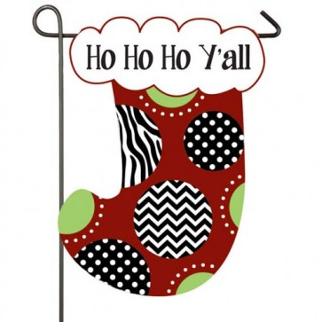 Ho Ho Ho Stocking  Garden Flag