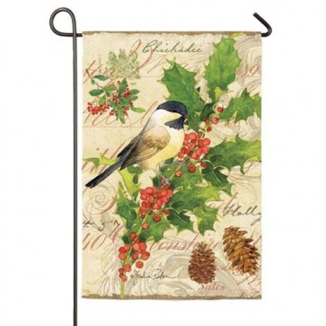 Holiday Birds Garden Flag  (2 Different Sides)