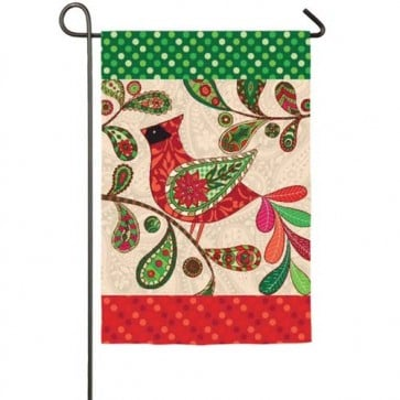 Holiday Cardinal Garden Flag