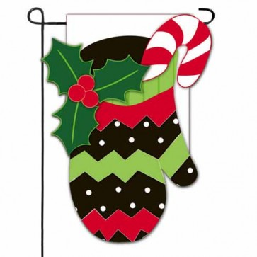 Holiday Mitten Garden Flag