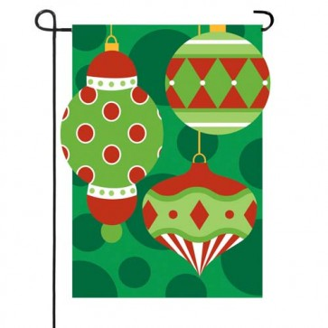 Holly Jolly Ornaments Garden Flag