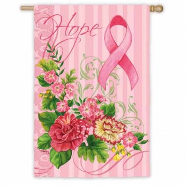 Hope Pink Ribbon House Flag