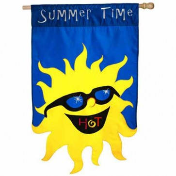 Hot Summer Time House Flag