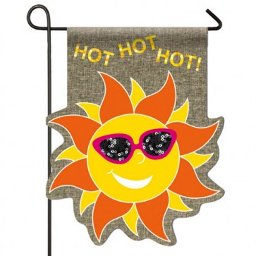 Burlap Hot Sun Garden Flag
