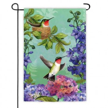 Hummingbird Nest Garden Flag