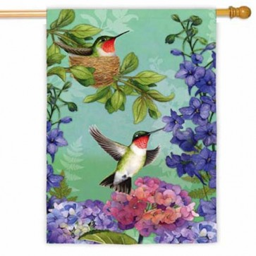 Hummingbird Nest House Flag
