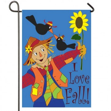 I Love Fall Garden Flag