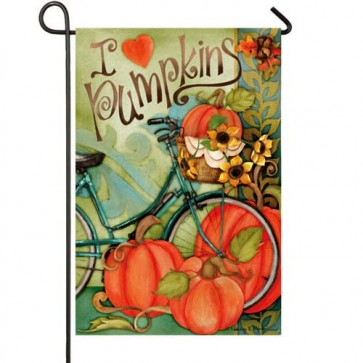 I Love Pumpkins Garden Flag