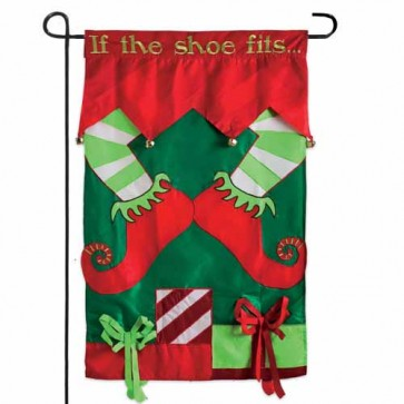 If the Elf Shoe Fits Garden Flag
