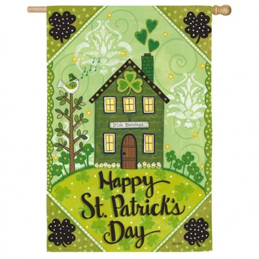 Irish Blessings St Patrick's Day House Flag