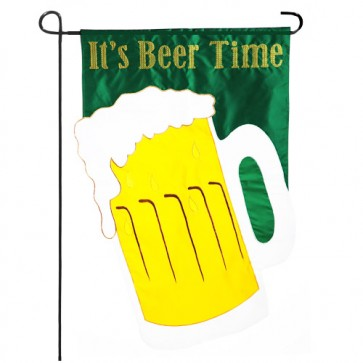 It's Beer Time Garden Flag