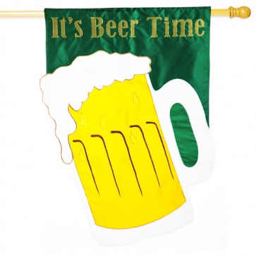 It's Beer Time House Flag