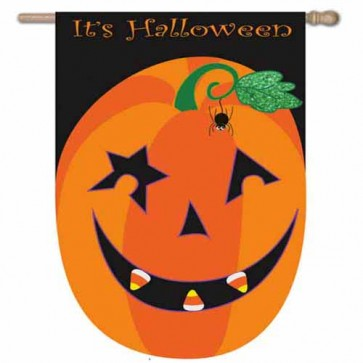 It's Halloween  Pumpkin House Flag