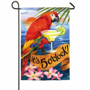 It's 5 O 'Clock Garden Flag