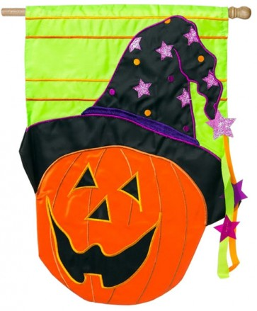 Jack-O-Lantern  House Flag (CLOSEOUT)