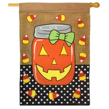 Halloween Mason Jar House Flag