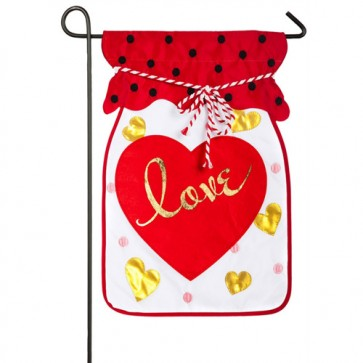 Jar of Love Valentines Day Garden Flag