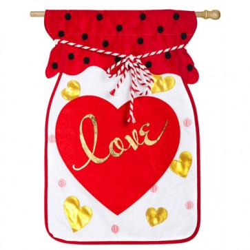 Jar of Love Valentines Day House Flag