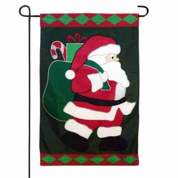 Jolly Old Santa Garden Flag