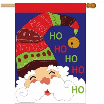 Jolly Santa Christmas House flag