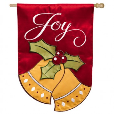 Joyful Christmas Bells House Flag
