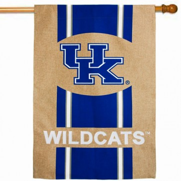 Kentucky Burlap House Flag