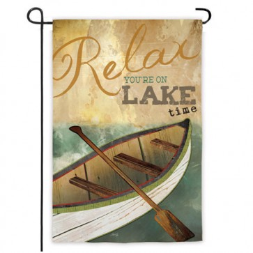 Lake Time Garden Flag