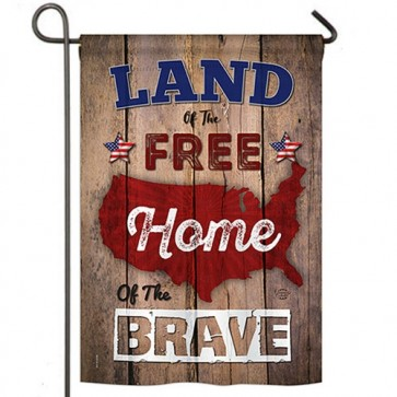 Land of the Free Garden Flag