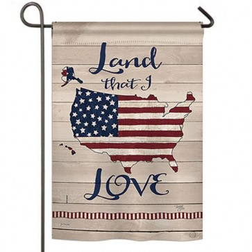 Land I Love Garden Flag