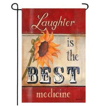 Laughter is the Best Medicine Garden Flag