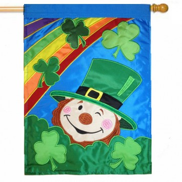 Leprechaun House Flag St Patrick's Day
