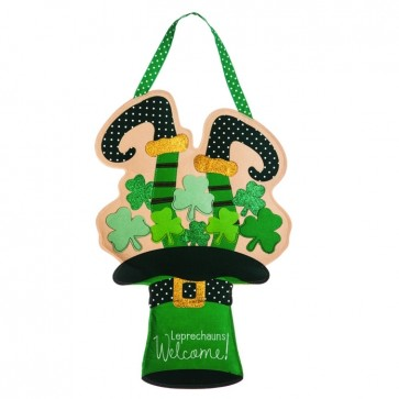 Leprechaun Welcome Felt Door Hanger