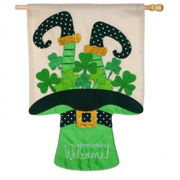 Leprechaun's Welcome House Flag